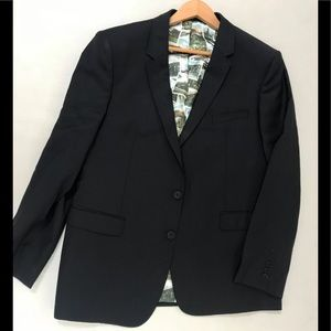 Ted Baker two piece men's suit wool navy 44R